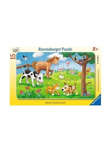 Ravensburger Ravensburger 15 Parçalı Puzzle Cuddly Friends Pembe